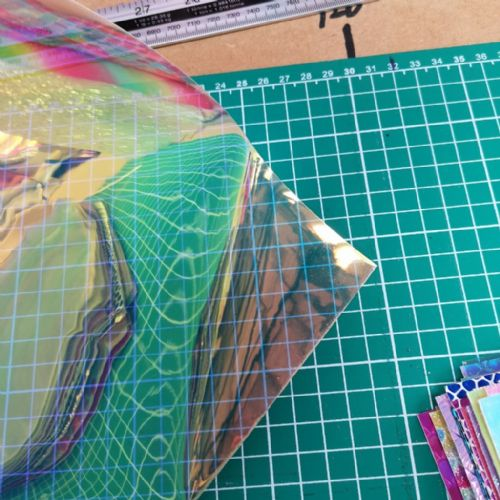 Iridescent Holographic Clear Transparent Fabric